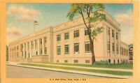 Postcard Post Office, Flint, MI D-8