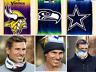 NFL Fleece Lined Warm Face Scarf Mask  Seattle Seahawks Football Team Gift NEW