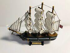"Wooden Cutty Sark tall model clipper ship.  Fully Assembled.  7"" tall"