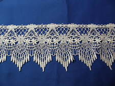 "VICTORIAN THEMED VENISE LACE WHITE  RAYON  5""  WIDE EXCELLENT QUALITY S BY YARD"