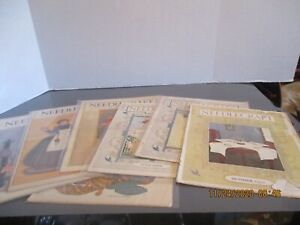 """VINTAGE  """"NEEDLECRAFT THE MAGAZINE OF HOME ARTS"""" FROM THE 20'A & 30'S - LOT OF 8"""