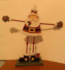 """19 """" Wood Free Standing Santa Mounted on Base"""