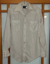 Vintage Wrangler Long Tails Western Snap Shirt Men's 15 X 34 Single Needle USA
