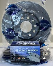 Graphite Sport Brake Discs Drilled Grooved & pads BMW E46 294mm rear upgrade
