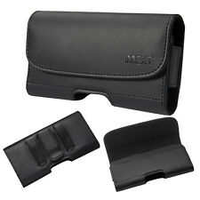 Horizontal Leather Belt Clip Holster Pouch Cover for iPhone 6 7 8 Plus+Outer Box