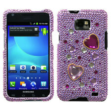 For Samsung Galaxy S2 i9100 Love Crash Diamante Phone Protector Case Cover