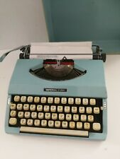 Imperial 200 portable typewriter  - blue with cover