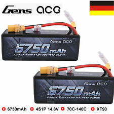 Twin Pack 4S Lipo Battery 6750mAh 14.8V 70C HardCase XT90 Plug For RC Car Buggy
