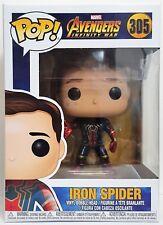 Funko Pop Iron Spider Unmask # 305 Marvel Avengers Infinity War Vinyl Figure New