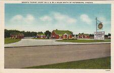 Postcard Brook's Tourist Court South Petersburg VA
