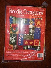 "Needle Treasures ' Holiday Patchwork Pillow"" (06926) - Needlepoint Kit - New"