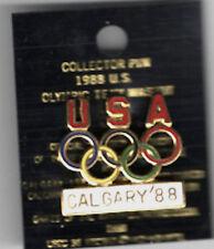 Vintage USA Olympic Rings Pin Never Used Calgary '88 USA Olympic Team Pin