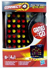 Connect 4 / Four Wins Compact Travel Game Driving Game