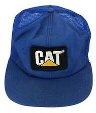 Vintage CAT Caterpillar Patch Trucker Hat By Tonkin Mesh SnapBack Made In USA E