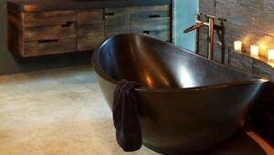 Oceanstone's Malibu Soaker Solid  100% Pure Terrazzo stone Resin Free