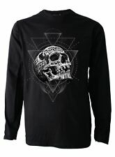 Inked Skull Genuine Darkside Mens Long Sleeve Tattoo T Shirt