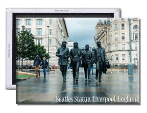Beatles Statue Liverpool UK England - Souvenir Fridge Magnet