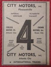 1964 City Motors - Pleasantville & Atlantic City New Jersey Advertisement