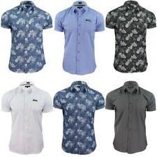 Camicie casual e maglie da uomo a manica corta in spiaggia, palme da cocco in cotone
