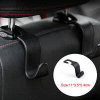 1xUniversal Car Auto Black Back Seat Hook Hanger Bag Coat Purse Organizer Holder