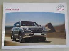 Toyota Land Cruiser V8 range brochure Oct 2007 German text
