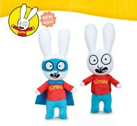 Couple 2 Soft Toy 28cm Simone The Rabbit Normal And Superhero Original Official