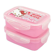 Hello Kitty 2 tier lunchbox set / Kitty heart lunch box 2P set (standard&sweety)