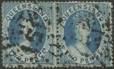 Queensland - 1860-61 (SG.7) 2d blue Chalon, wmk Small Star, clean cut