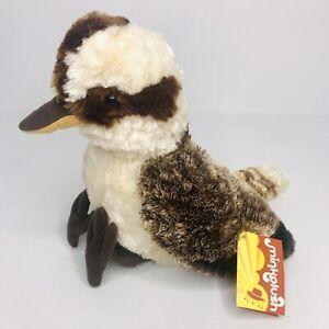 Minkplush Kookaburra 'Banjo' Australian Bird Soft Plush Toy 27cm Tomfoolery NEW