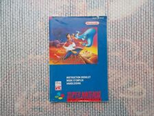 Notice Super nintendo / Snes mode d'emploi Aladdin PAL original Booklet*