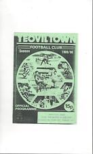 Yeovil Town v Calne Town Reserves Football Programme 1989/90