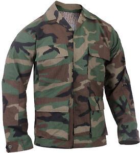 Tactical Ripstop BDU Shirt Military Fatigue Army Coat 4-Pocket Summer Weight