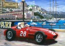 Art card 1956 Maserati 250F #28 Stirling Moss winner Monaco Toon Nagtegaal