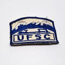 Vintage original Ufsc Skating club member award souvenir patch