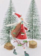 GISELA GRAHAM CHRISTMAS ANIMAL MAGIC SANTA WITH SACK DECORATION