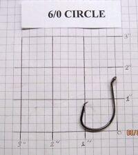 100 6/0 Circle Octopus Fishing Hooks black nickel wholesale / bulk fishing hooks