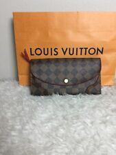 Louis Vuitton Caissa Damier Ebene Red Leather Wallet