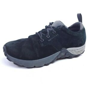 Merrell Jungle Lace Mens 7.5 Hiking Shoes Black Pig Suede Trail J91751 Womens 9