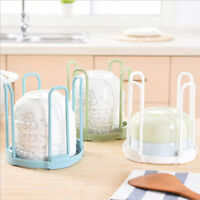 Foldable Dish Plate Drying Rack Organizer Drainer Storage Holder Kitchen KV