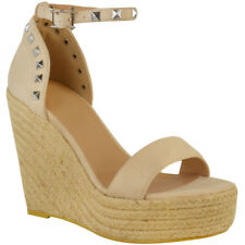 Womens Ladies High Heel Wedge Party Summer Sandals Espadrilles Flatform Size UK