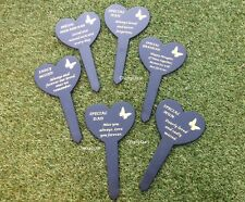 Graveside Memorial Remembrance Black Butterfly Heart Flora Stake Garden Cemetery