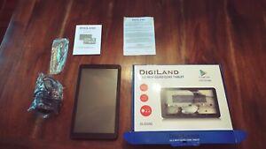"DigiLand Tablet (DL1010Q) Black - 16GB, 10.1"" 1024 x 600 Quad Core WITH BOX"