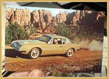 Studebaker Avanti car original advertising post card desert scene