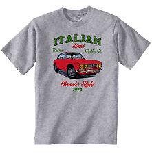 AUTO D'EPOCA ITALIANE ALFA ROMEO GIULIA GT 2000 veloce-Nuovo T-shirt di cotone