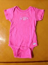 Baby Girls Toddlers Gerber Pink Onesie One-Piece Short Sleeve Shirts 12 Months
