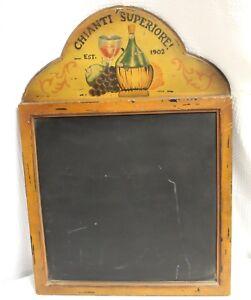 """Vintage Style Memo or Menu Chalkboard, """"Chianti Superiore"""""""