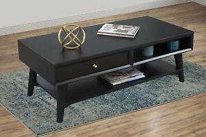 Alpine Furniture Flynn Coffee Table, Black