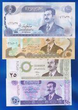 Irak / Iraq - 4 x BANKNOTEN  25 Dinars / 250 Dinars 1994 / 2002 UNC SET  Saddam
