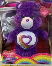 "CARE BEARS RAINBOW HEART 35 YEAR ANNIVERSARY 20"" PLUSH LIMITED EDITION NEW BOXED"