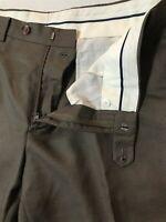 Ralph Ralph Lauren 36 x 29 Brown Micro Patterned Flat Front Dress Pants